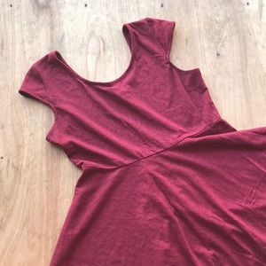 Red cap sleeve fit and flair